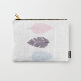 Feathers pink black blue Carry-All Pouch