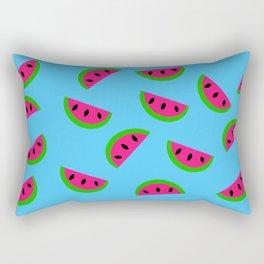 Summertime Watermelon Design Rectangular Pillow