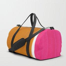 Minimalist Mid Century Modern Colorful Color Field Rothko Magenta Yellow Ochre Duffle Bag