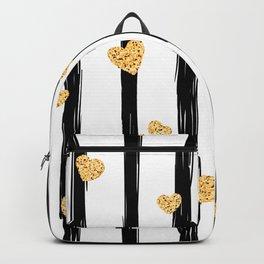 Stripes & Hearts Backpack