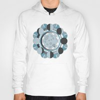 moon phases Hoodies featuring Moon Phases by TypicalArtGuy
