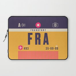 Retro Airline Luggage Tag - FRA Frankfurt Laptop Sleeve