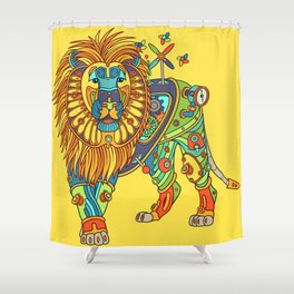 Lion, from the AlphaPod collection Shower Curtain