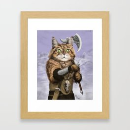 Barbarian Cat Framed Art Print