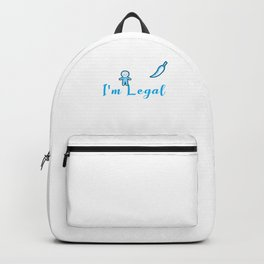Mexican American Relax Gringo I'm Legal Immigrant Immigration Mexico Backpack