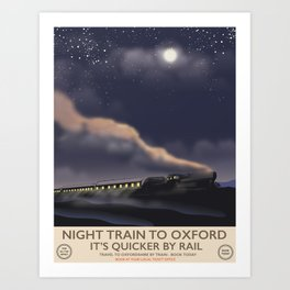 Night train to Oxford Art Print