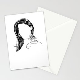 The Girl With The Terrarium Earring Stationery Cards