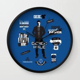 Derek Hale Quotes Teen Wolf Wall Clock