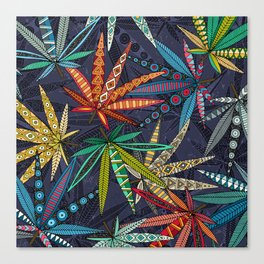 boho weed midnight Canvas Print