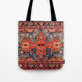 Kashan Poshti Central Persian Rug Print Tote Bag