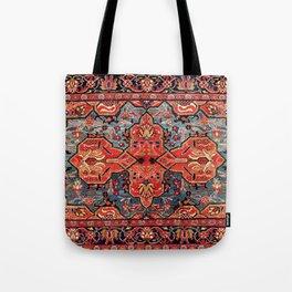 Kashan Poshti Central Persian Rug Print Tote Bag