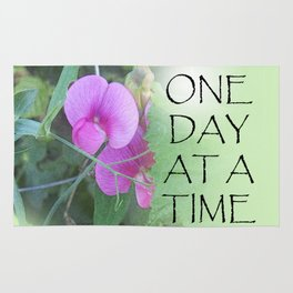 One Day at a Time Sweet Peas Rug