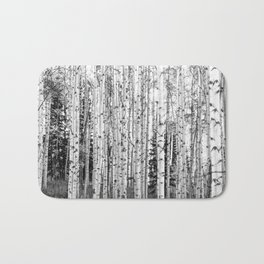 Forest in Black & White Bath Mat