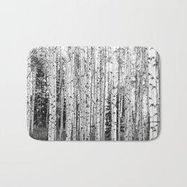 Forest in Black & White Bath Mat