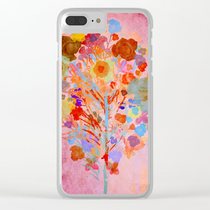 Floral abstract(46). Clear iPhone Case