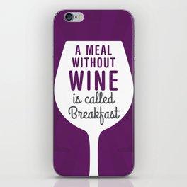 Wine Breakfast iPhone Skin