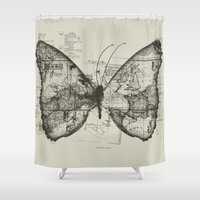 backpack Shower Curtains featuring Butterfly Effect by Tobe Fonseca