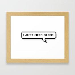 Sleep. Framed Art Print
