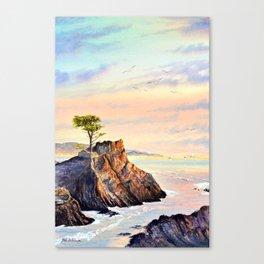 Pebble Beach Lone Cypress Tree Canvas Print