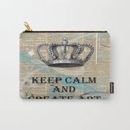 Keep Calm and Create Art Carry-All Pouch