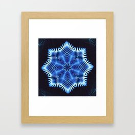 Vibrational Snowflake Framed Art Print