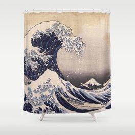 Art/Beach Shower Curtain Hokusai Big Wave Of Kanagawa Shower Curtain
