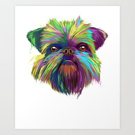 Splash Brussels Griffon Dog Art Print