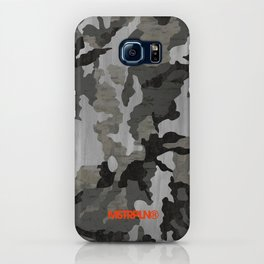 Modern Woodgrain Camouflage / Winter Birch Woodland Print iPhone Case