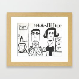 "Jonatan's ""At the Office"" Framed Art Print"