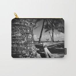 Kuau Beach Palm Trees and Hawaiian Outrigger Canoe Paia Maui Hawaii Carry-All Pouch