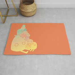 Lumps (Red) Rug