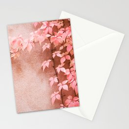 Wall abstract old ivy leaves Stationery Cards