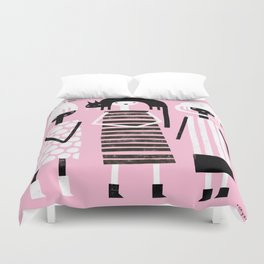 PINK BLACK & WHITE Duvet Cover