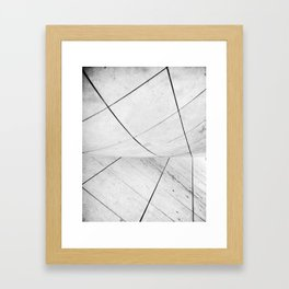 WHITEOUT: chicago disoriented Framed Art Print