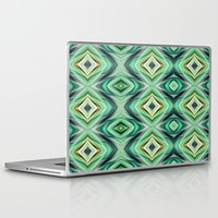 green pattern Laptop & iPad Skins featuring Pattern green  by Christine baessler