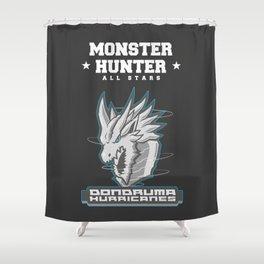 Monster Hunter All Stars - The Dondruma Hurricanes Shower Curtain