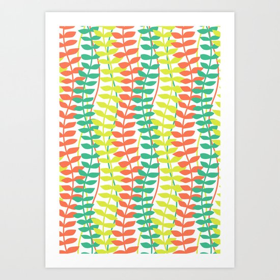seagrass pattern - tropical Art Print