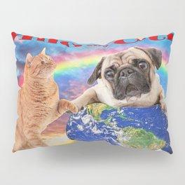 Milo And Otis Take On The World Pillow Sham