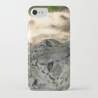 snow leopard iPhone & iPod Cases featuring Snow Leopard by Sean Foreman