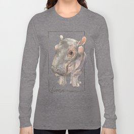 Fiona the Hippo - Bashful Long Sleeve T-shirt