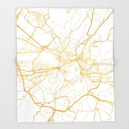 FLORENCE ITALY CITY STREET MAP ART Throw Blanket