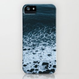 Iceland waves and shapes - Landscape Photography iPhone Case