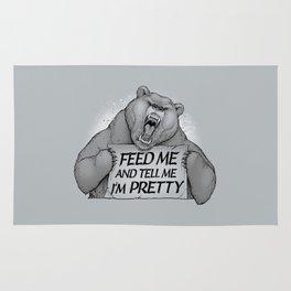 Feed Me And Tell Me I'm Pretty Bear Rug