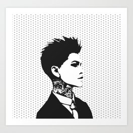 The handsome butch with neck tattoos Art Print