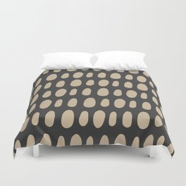 Brush Strokes Gold Duvet Cover