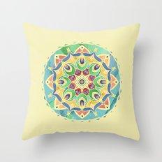 Sand and Silk Mandala 2 Throw Pillow