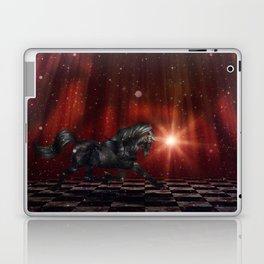 Black Unicorn on the Stage Laptop & iPad Skin