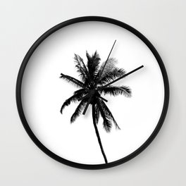 Palm Tree Squared Wall Clock