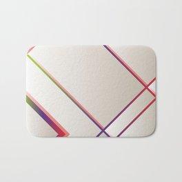 Rainbow Grids Bath Mat