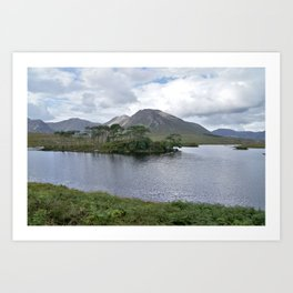 Island of Derryclare Lough Art Print